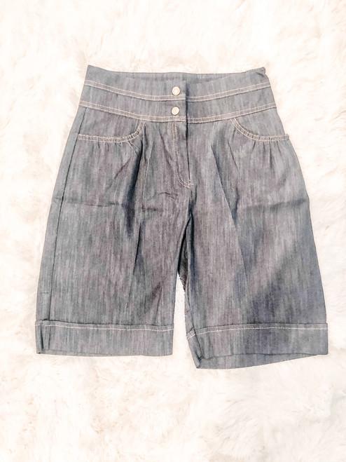 Cuffed Bermuda Shorts (W)