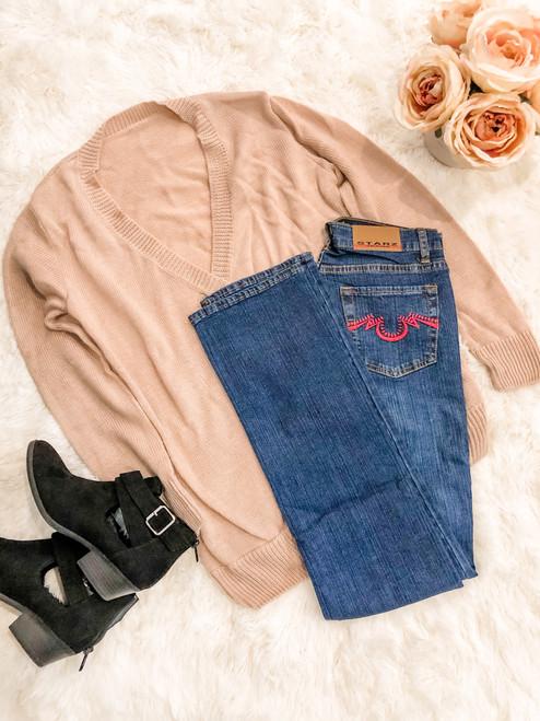 Starz Fuchsia Straight Leg Dark Wash Jeans