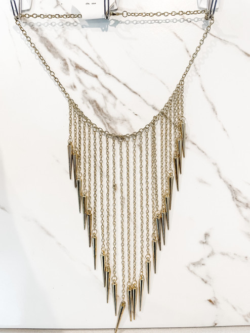 Long Spiked Necklace