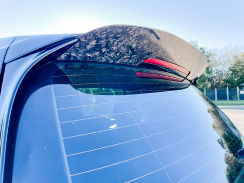 Carbon Fiber Spoiler Extension for 2015-2020 Volkswagen GTI, Golf-R, Rabbit, GTD FORGED SHINY