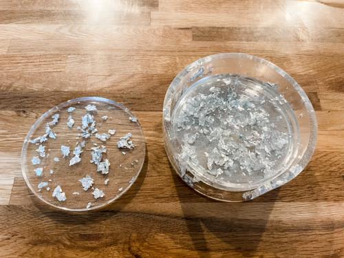 Flake Resin Coaster Set (W)