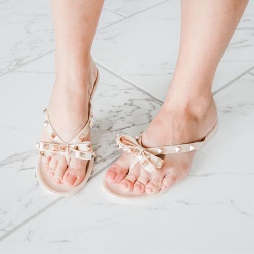 Izzie Jelly Studded Sandals (W)
