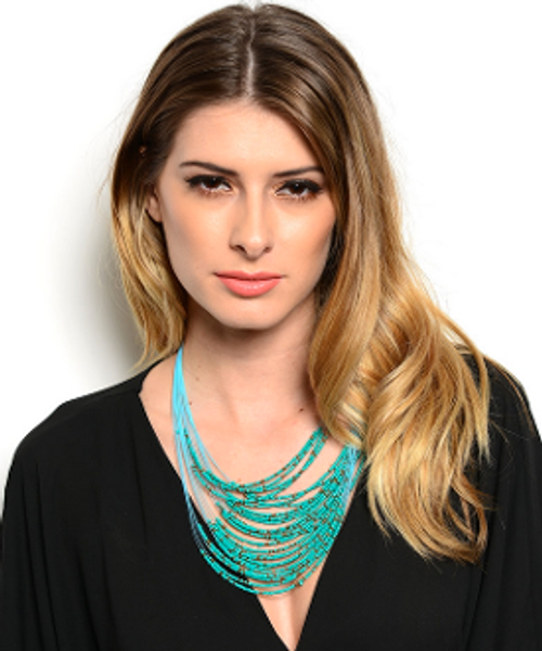 Multi Line Beads Necklace & Earring Set