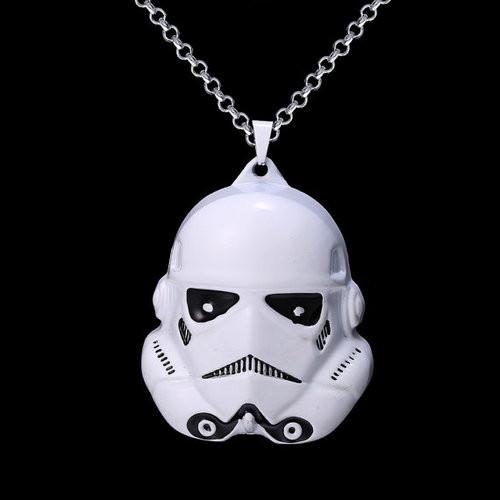 Star Wars Stormtrooper Helmet Inspired Necklace