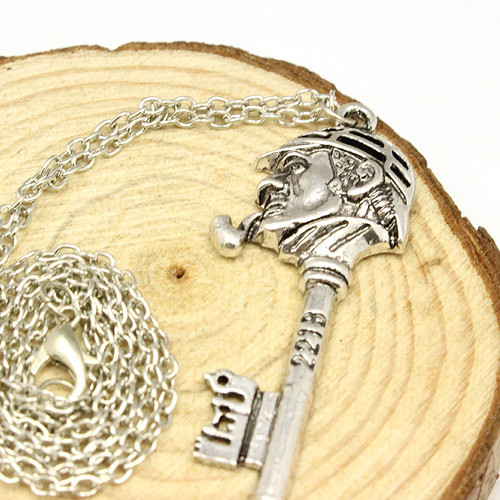 Sherlock Holmes Head Key Necklace