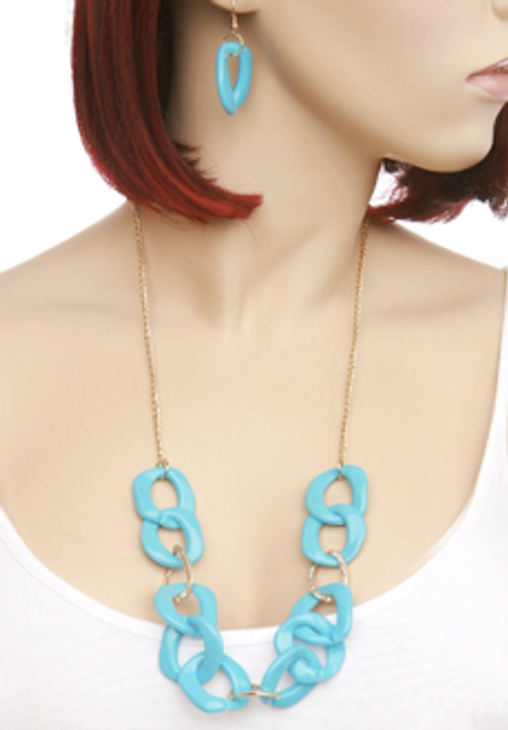 Chunky Chain Necklace & Earring Set