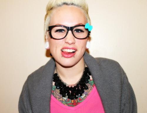 Kawaii Kitty Glasses with Bow (W)