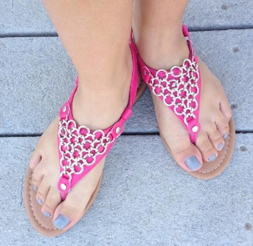 Chain Gladiator Sandals (W)