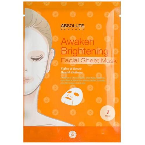 Absolute New York Awaken Brightening Facial Sheet Mask (W)