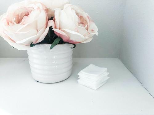 Reusable Washable Facial Body Square Small 12 Sheets - Zero Waste, Eco Friendly, Soft