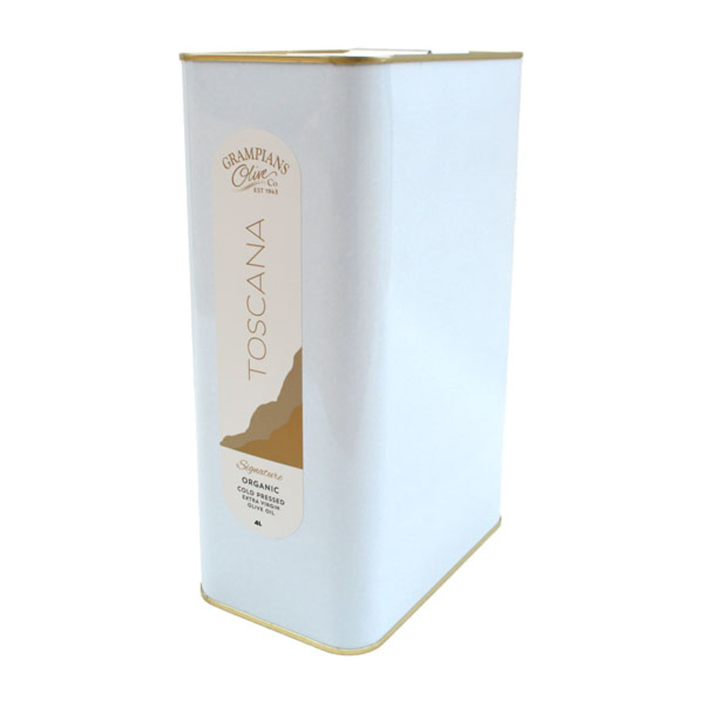 4L tin Toscana signature Australian premium organic cold pressed extra virgin olive oil