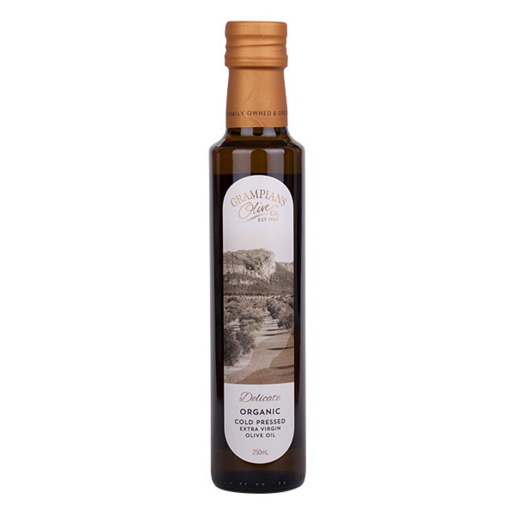 'Delicate' Grampians olive estate organic cold pressed extra virgin olive oil late harvest