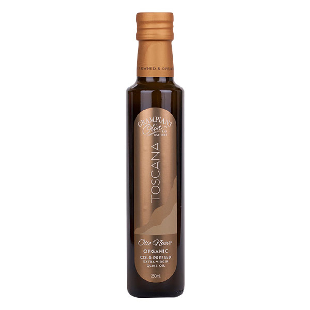 250ml Olio Nuovo fresh pressed cloudy organic extra virgin olive oil first harvest