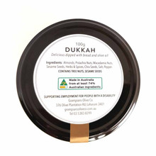 100g dukkah jar, all Australian nuts