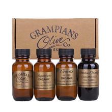 4 x 25ml australian organic olive oil vinegar sampler pack with voucher