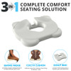 3 in 1 seating solution. The Kabooti is a Donut Seat Cushion, A Tailbone Seat and a Wedge Seat Cushion for comfortable sitting all day long