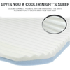 Air circulation channels promotes air flow for a cooler nights sleep