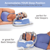 Pressure free CPAP Pillow for Side sleepers or orthopedic alignment cpap pillow for back sleepers
