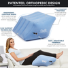 CONTOUR DELUXE 2-IN-1 LEG & BACK RELIEF INFLATABLE WEDGE PILLOW CUSHION