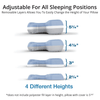 3 Layers of removable foam allows you to easily adjust your pillow to accomodate your proper sleeping height