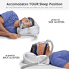 CPAPMax Pillow 2.0 accommodates both side, back and stomach sleepers