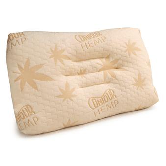 Contour Hemp Pillow for proper cervical neck support