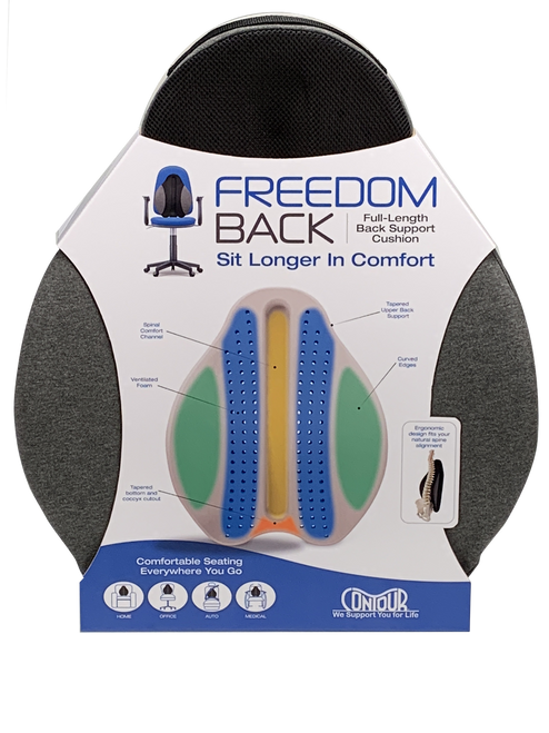 Back And Seat Support Cushion Combination Provides Total