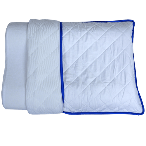 Dual Layered Pillow Case, for both warm and cold nights.
