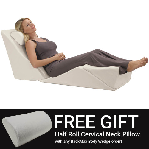 Free Premium Half Roll Pillow with BackMax Purchase