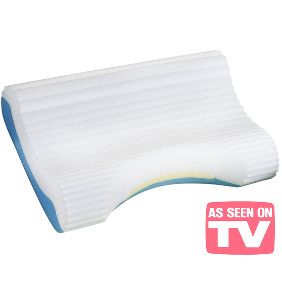 Top view of Contour Cloud Bed Pillow, shown without cover