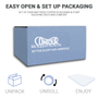 Easy set up in compressed packing eliminates bulky, cubersome toppers that can be set up and ready to use in minutes!
