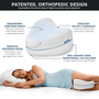 Orthopedic Support pillow allows sleepers to stay aligned perfect for side sleepers!