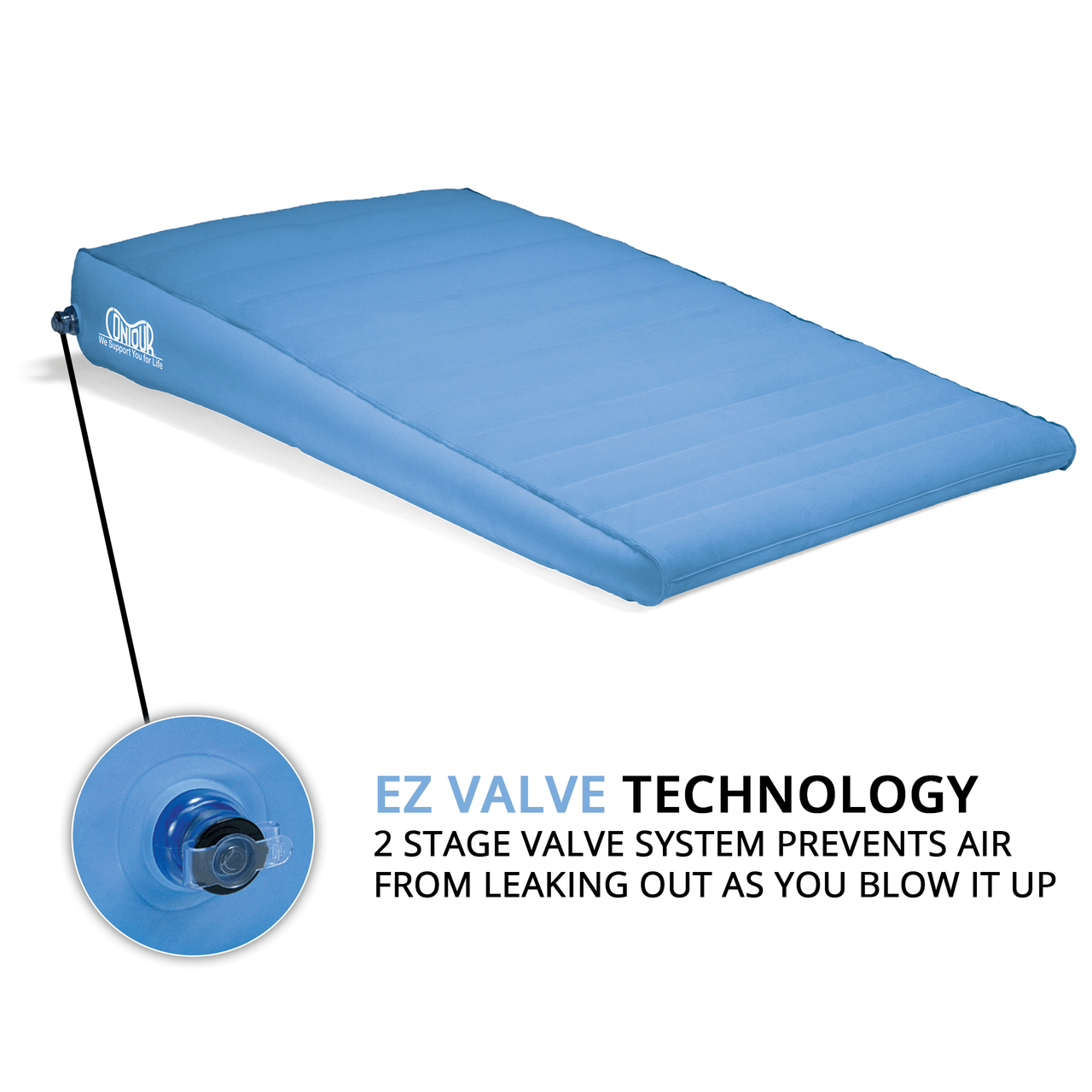 Inflatable Bed Wedge For Acid Reflux Sleep Better Xl Bed Wedge By