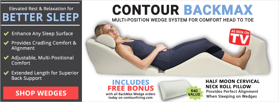 Contour Bed Wedge Best Selling BackMax Full Body Zero Gravity Pillow