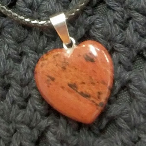 Heart Choker - Brown Obsidian Approx 2 x 2 For clarity, deflecting negativity, protection, healing, grounding.