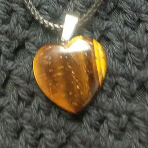Heart Choker - Tiger Eye Protection, Peace,  Clarity & Grounding Kundalini Solar Plexus Chakra