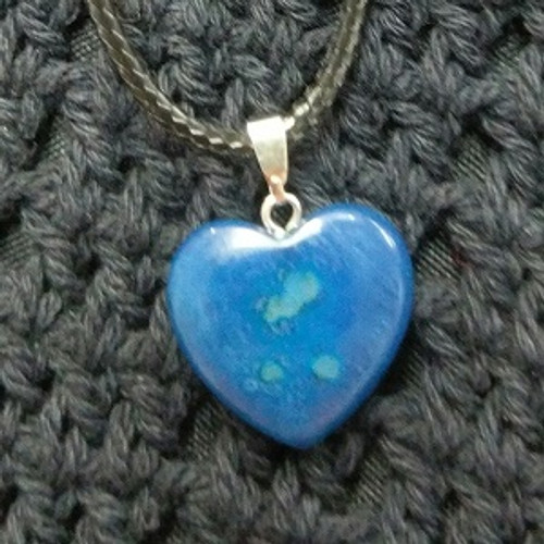 Heart Choker - Blue Agate 2 x 2cm Grounding, Balancing, Strength, Calm communication, nervous system  Strong Healing & Cleansing Powers