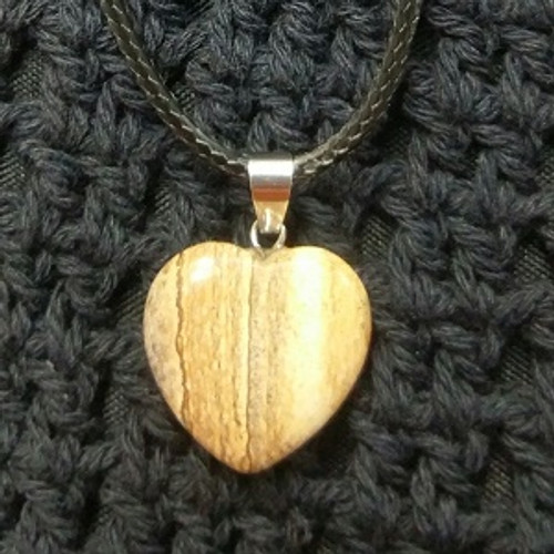 Heart Choker - Picture Jasper 2 x 2cm Harmony, Vision  & Connection