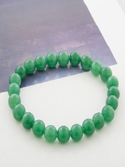 Power Bracelet Green Aventurine Aventurine -A stone of Healing & prosperity. Mental agility, see potentials, brings optimism, creativity, imagination, motivation, leadership, friendship, gambling luck, good fortune, career success, protection. A soothing heart chakra stone. So brings happiness, peace, opening heart. Strong healing, vision (physical), blood, headaches, sleep disorders, circulatory system.