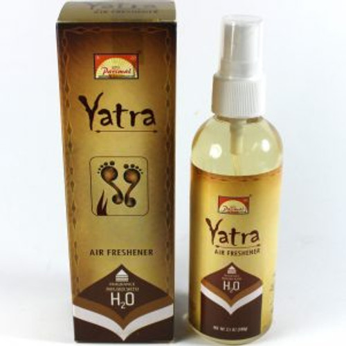 Yatra Air Freshener Yatra is made from rich natural ingredients which are blended with pure fragrance oils which calm the mind, relieve fatigue & stir the soul. 100ml