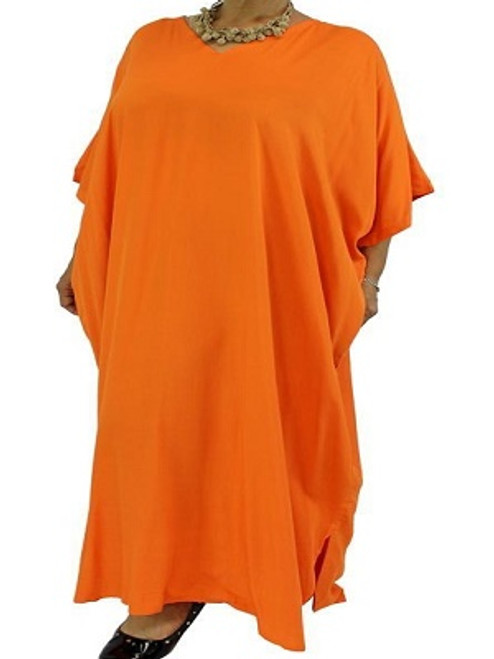 Long Kaftan Plain Orange