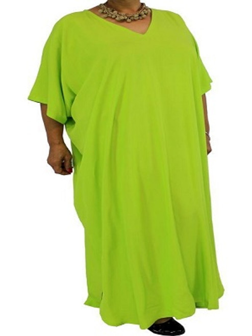 Long Kaftan Plain Green