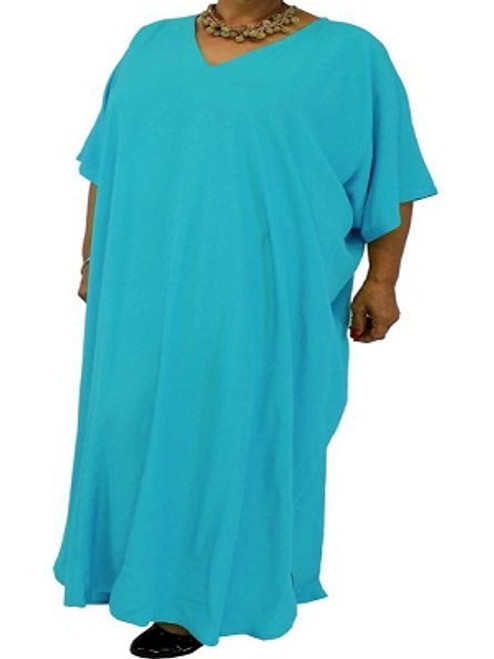 Long Kaftan Plain Blue