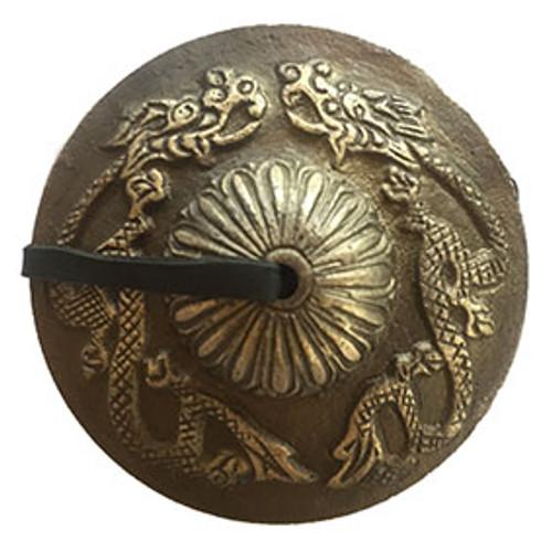 Cymbols Dragon Large Brass 8 x 8cm