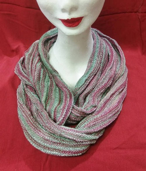 Snood Moss/Pink (infinity scarf)
