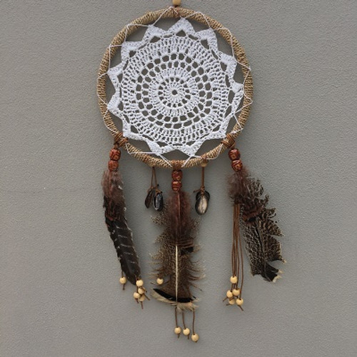 Dreamcatcher Tribal Lace & Shells SM  Approx 20cm x 55cm