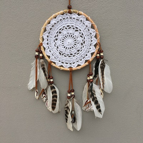 Dreamcatcher Tribal Lace & Shells LG  Approx 24cm x 55cm