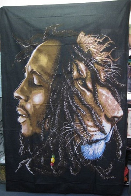Throw/Wall Hanger Bob Marley 100% cotton 140 x 210cm