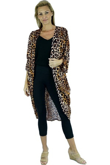 Long Cape Leopard. The Long Cape is draped loosely due to the soft cool nature of the rayon fabric.This will make a gorgeous addition to any simple outfit. A definite must have for this summer! ONE SIZE TO FIT SIZE 10-18