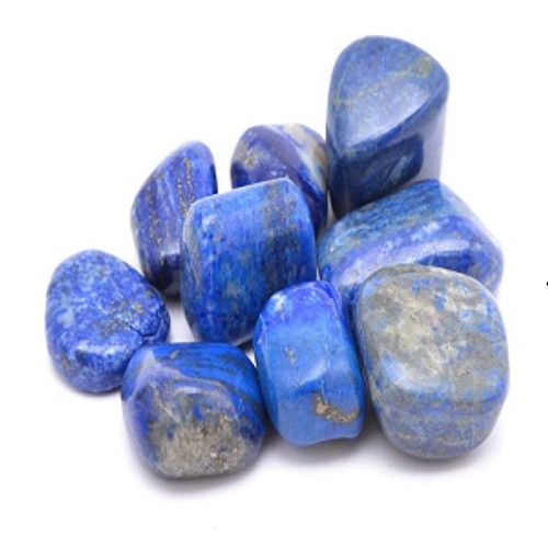 Lapis lazuli  See our Crystal Page for properties & uses. Approx size 1.5-3.5